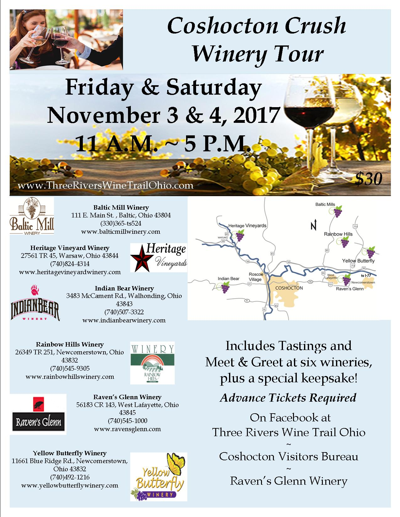 Coshocton Crush Winery Tour - Three Rivers Wine Trail