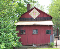Canal Era Applique Coshocton Ohio quilt barn trail