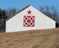 Star Coshocton Ohio quilt barn trail