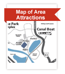 Map of Coshocton County Attractions